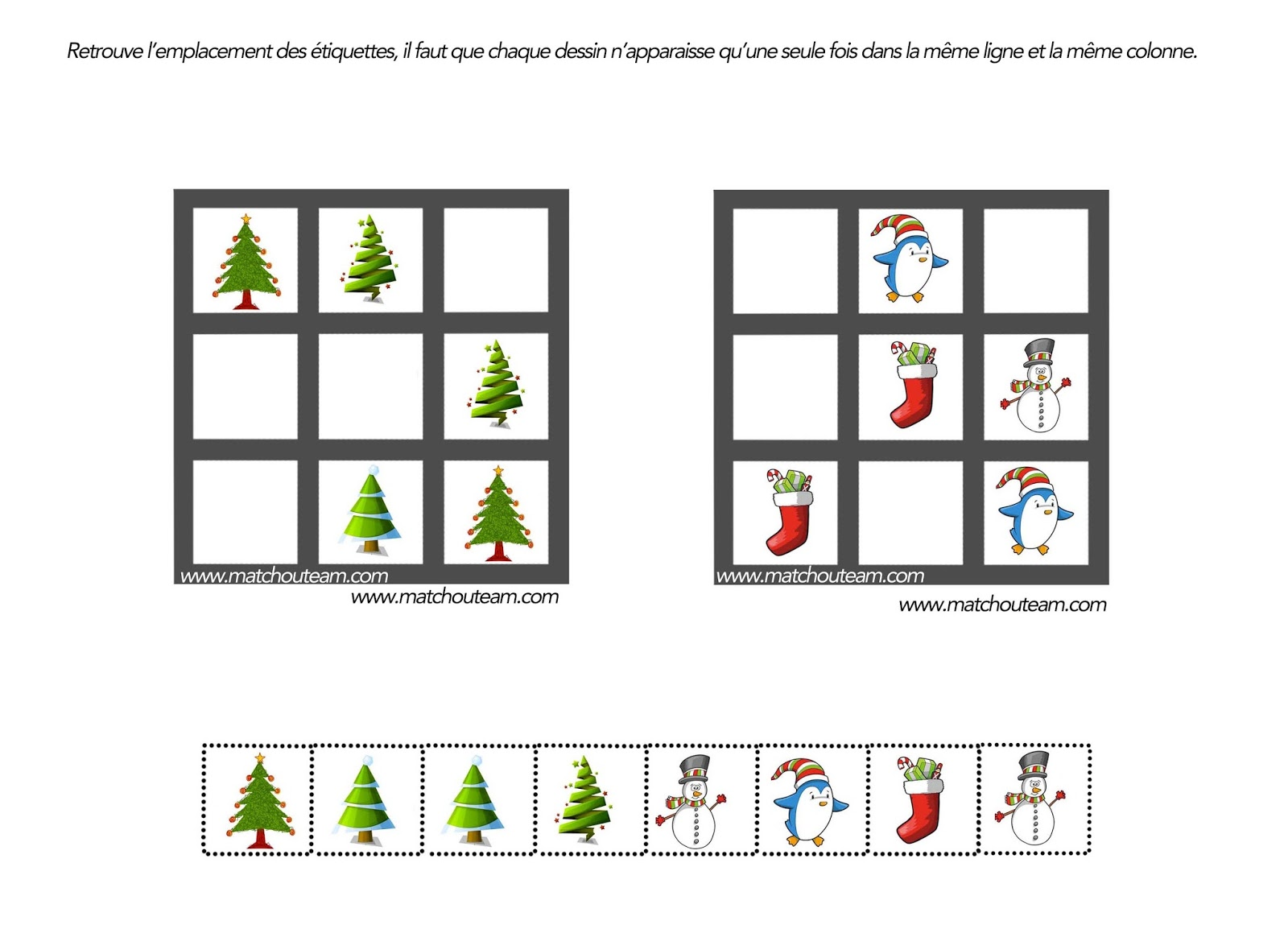 Coloriages gratuits Noël