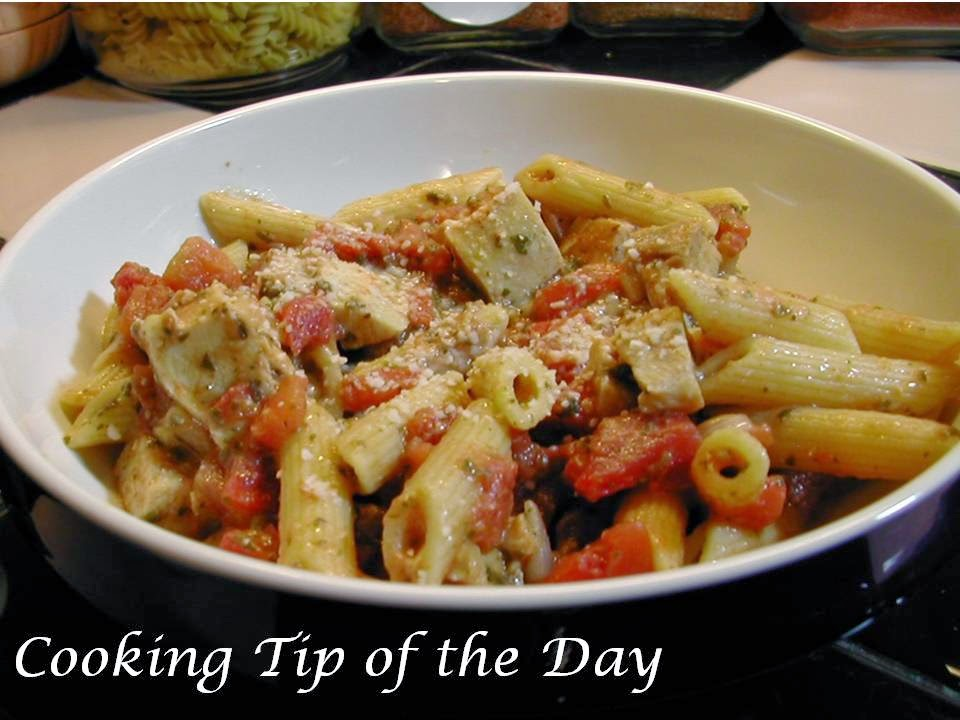 Cooking Tip of the Day: Recipe: Penne with Basil Pesto Pomodoro Sauce