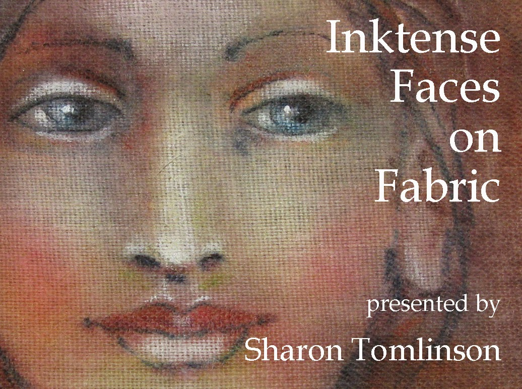 Inktense Faces on Fabric Now $20.00