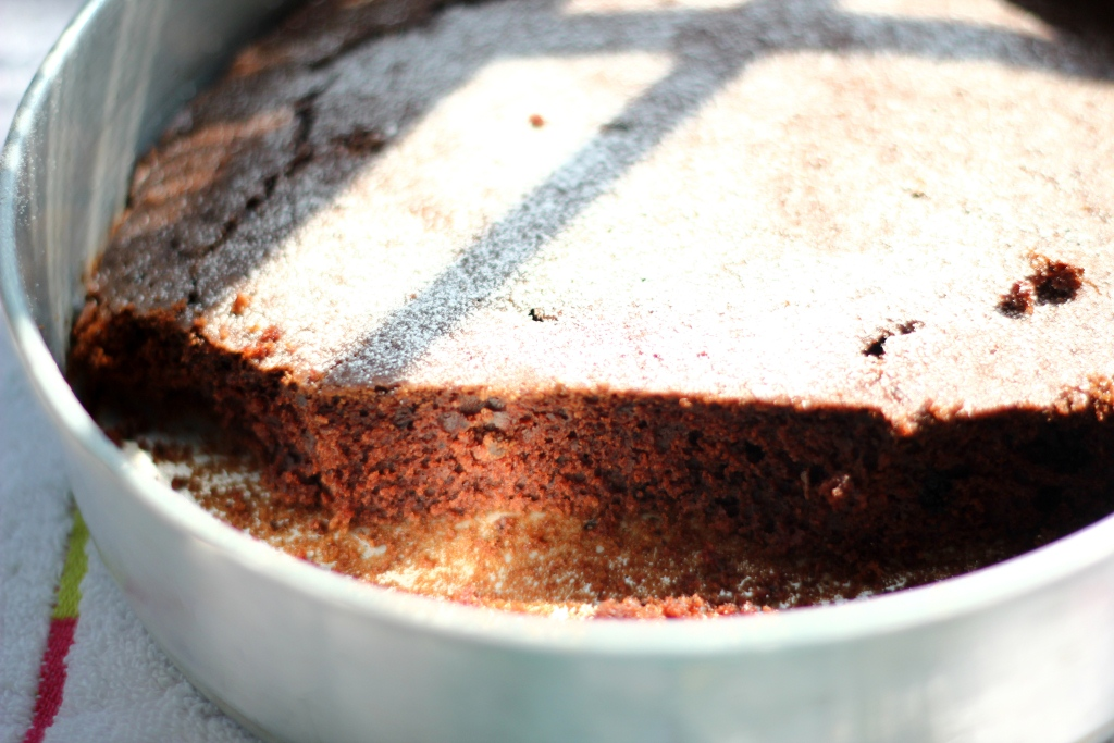 Eggless Chocolate - cake pan cake