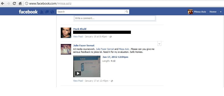 evaluation on facebook