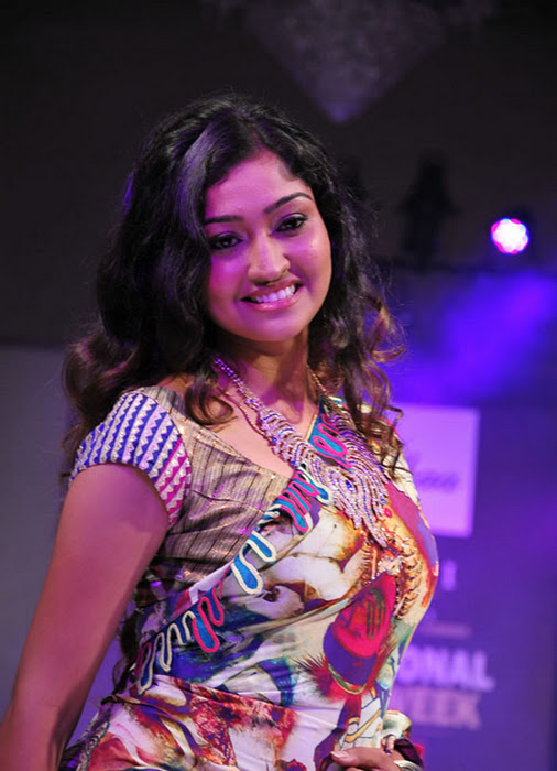 Neelima Rani on the ramp walk