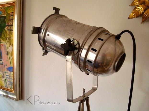 Auténtico estilo industrial. Lámparas y focos vintage.