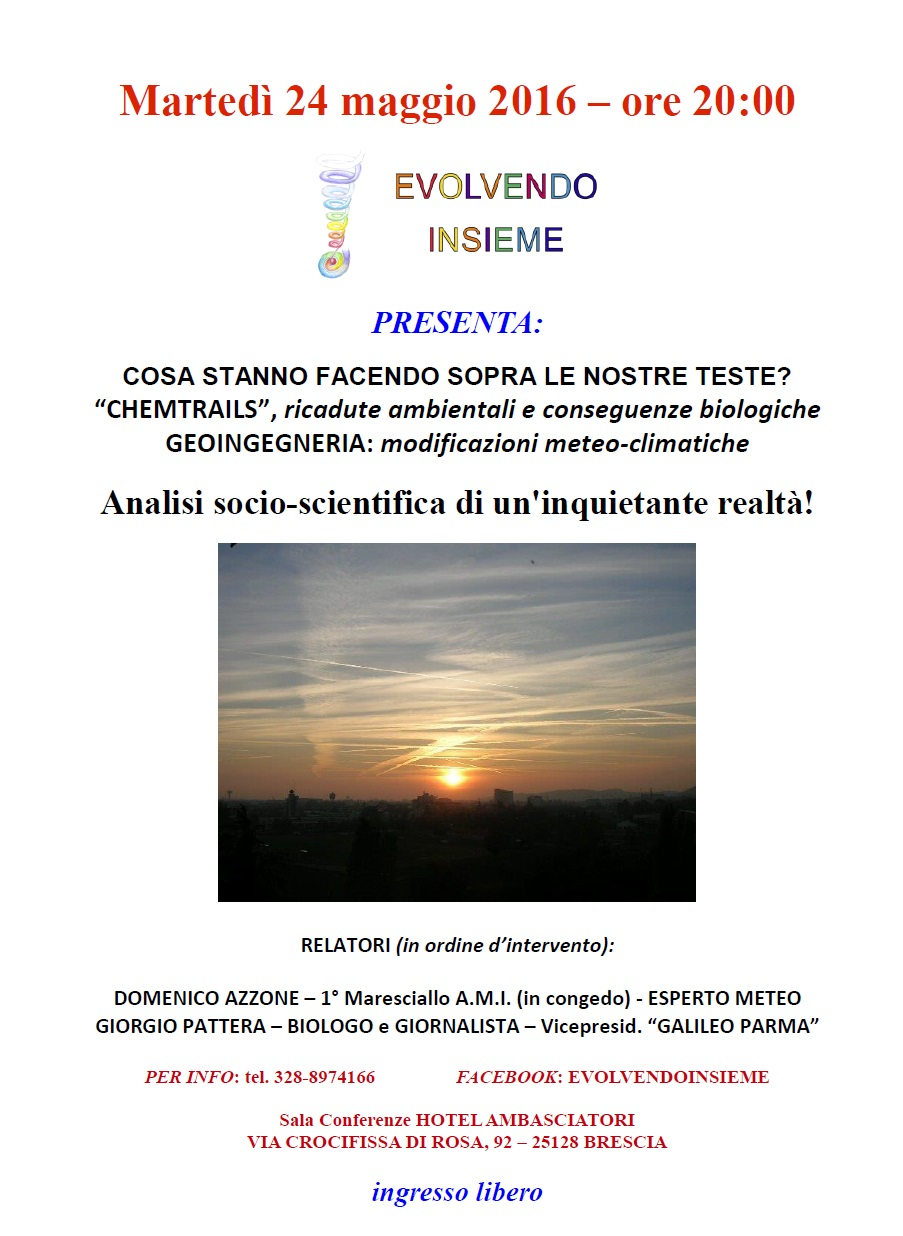 CONFERENZA SULLE CHEMTRAILS