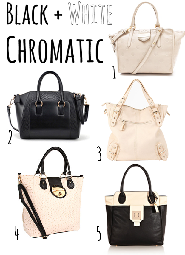 Chromatic Black and White Trend 2013, Bags 
