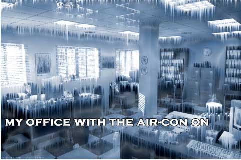 frozen in the office