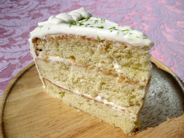 A key lime cake recipe served as the base for my gin and tonic cake.