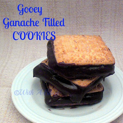 With A Blast: Gooey Ganache Filled Cookies --- chewy delight in every bite !   #cookies #ganache #gooey #sweettreats