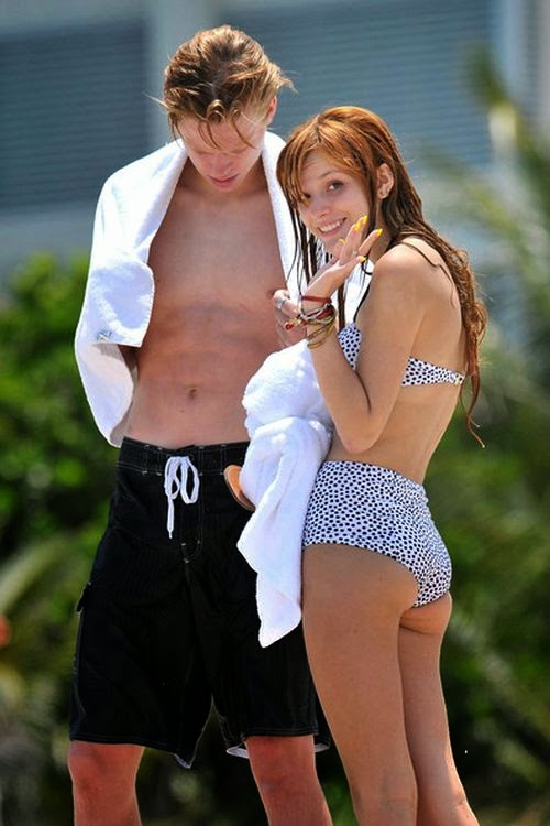 The 15-year-old, Bella Thorne and her long term boyfriend, Tristan Klier looked the picture of relaxation as they holidayed in Florida, USA on Monday, June 3, 2014.