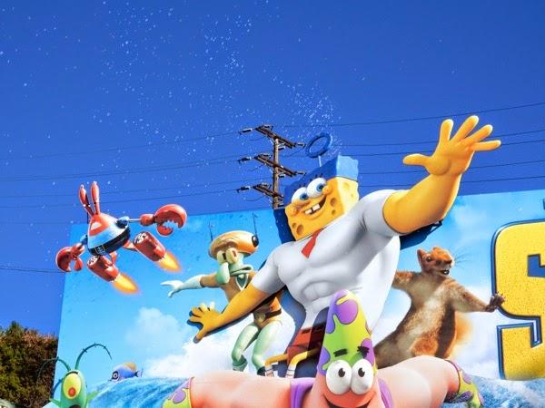 SpongeBob Movie soap bubbles billboard