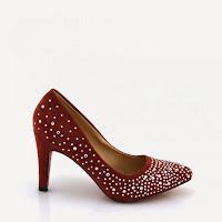 Pantofi dama cu strasuri rosii ( )