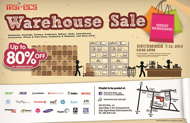 MSI-ECS Warehouse Sale