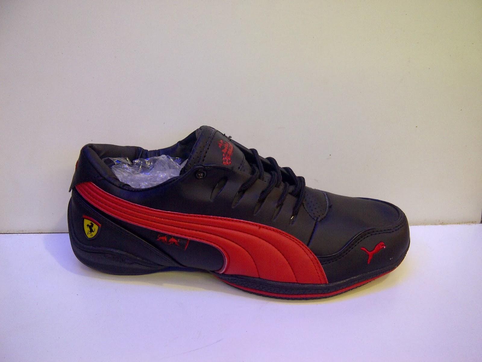 toko sepatu puma, puma ferrari hitam, jual puma, sepatu hitam, sepatu biru