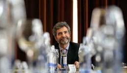 Lesmes en una reunión con el Tribunal de justicia gallego. EFE