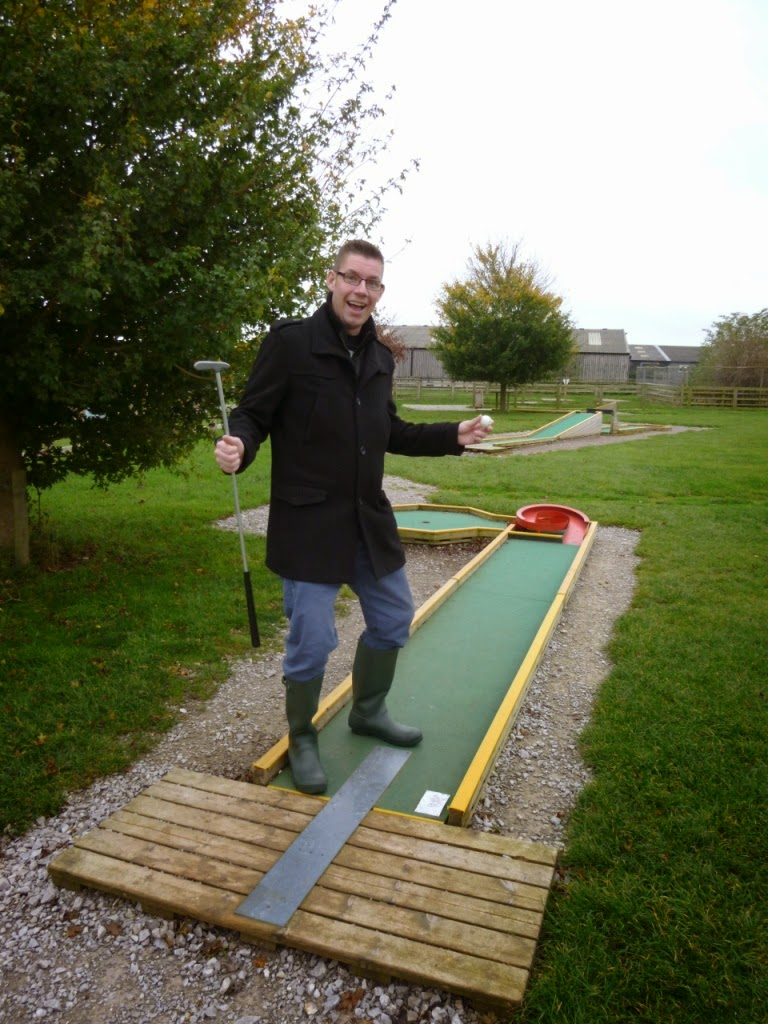 Crazy Golf at Mead Open Farm in Billington, Bedfordshire