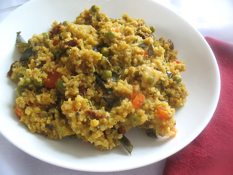 South indian style quinoa with potato pumpkin and for Quinoa recipes indian