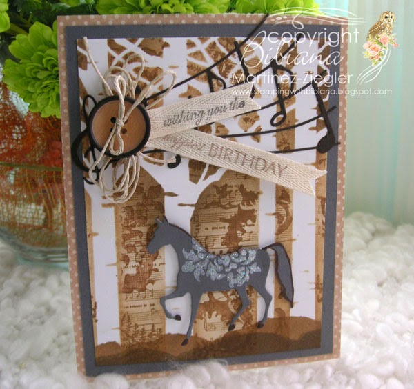 stencil with stamps masculine card