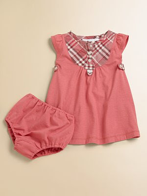 Designer Baby New Dress and Bloomers Sets from Burberry Baby