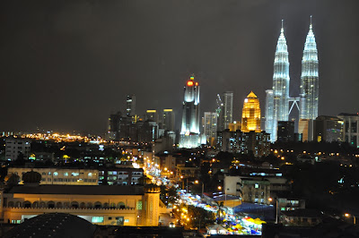 View of Kuala Lumpur city at night from Cititel Express Hotel
