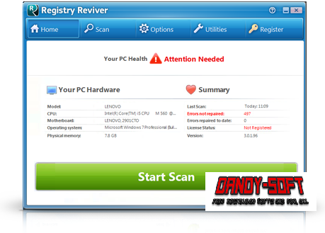 Registry Reviver 3.0.1.152 Full Version