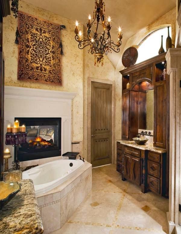 Ideas Baño Relajante: : Salas de baño con Chimenea, un refugio relajante por excelencia