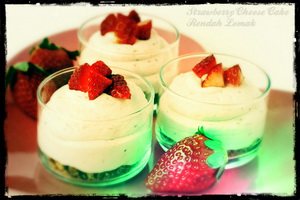 Strawberry Cheese Cake Rendah Lemak