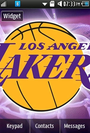 Sports Los Angeles Lakers Samsung Corby 2 Theme Wallpaper