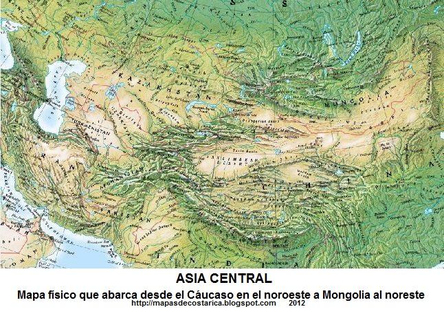 ASIA CENTRAL  MAPAS DE