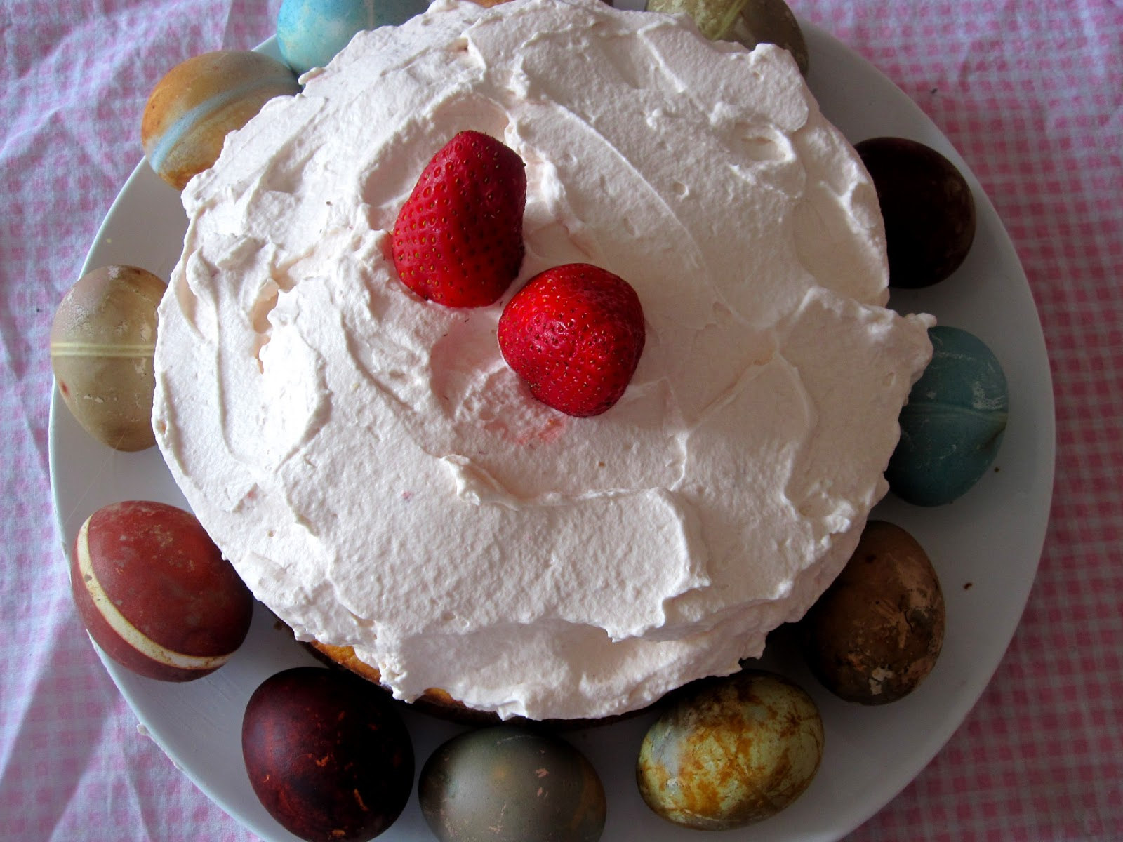 WineBookGirl: Strawberry Whipped Cream Cake