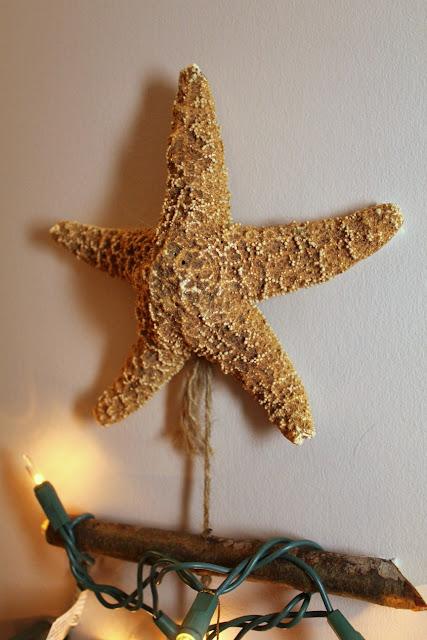 decoração da árvore de estrelas do mar - Tartarugas e Tails blogue