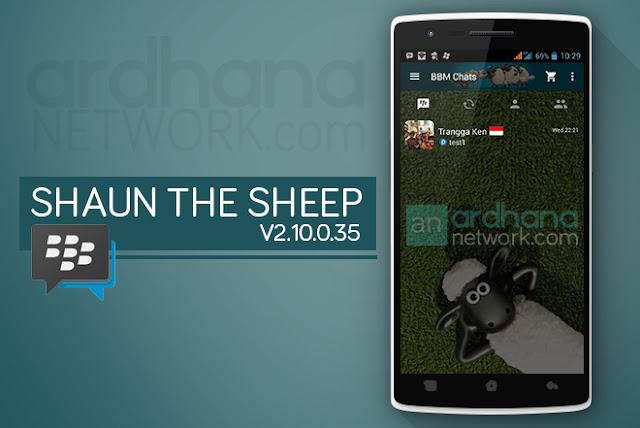 BBM Shaun The Sheep - BBM Android V2.10.0.35