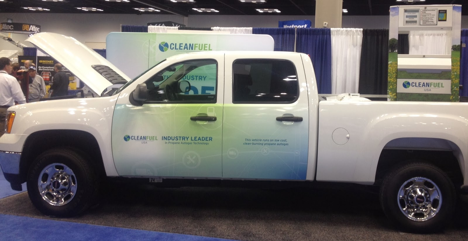 cleanfuel usa  new propane autogas vehicle offering gmc c2500 pick up truck