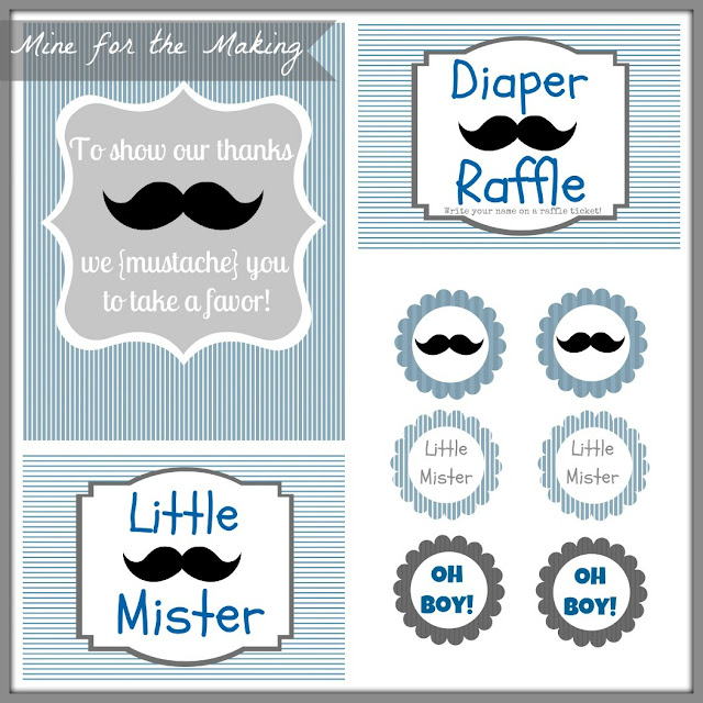 If you would like all 8 Little Mister Mustache Bash {baby shower ...