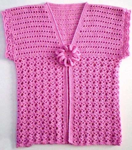 Pink Vest for Girls - Free crochet diagram
