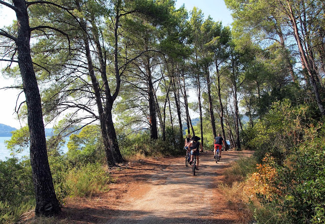 Cycling around Mljet National Park, Croatia