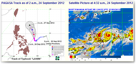 Bagyong Lawin September 2012 update