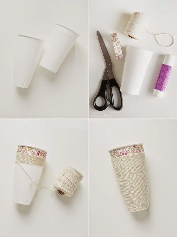 DIY, Organizadores para Maquillaje con Vasos
