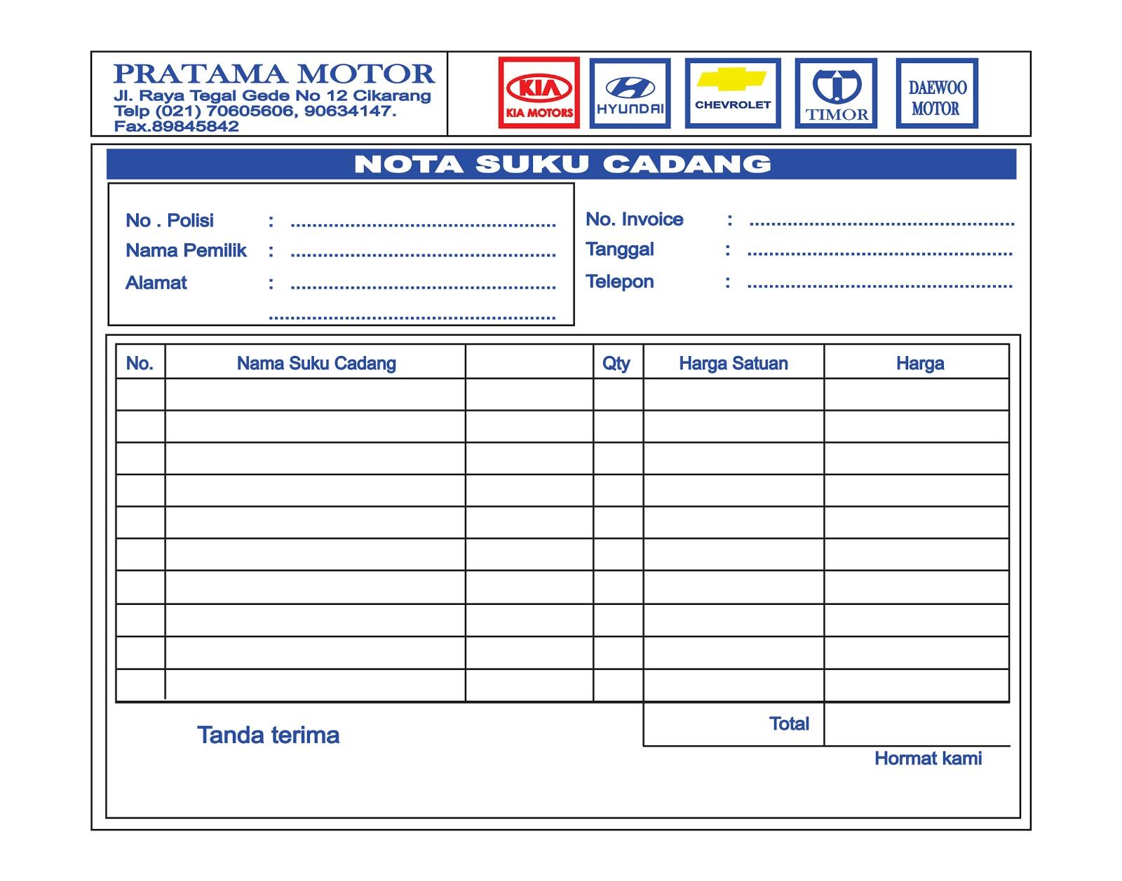 Contoh Nota Bon Rumah Makan Padang Modify 5