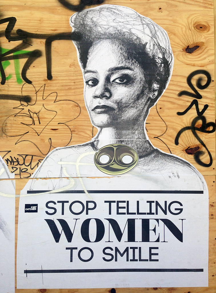 Stop Telling Women to Smile by Tatyana Fazlalizadeh in Wynwood, Miami, MBAB, Art Basel 2014, street srt