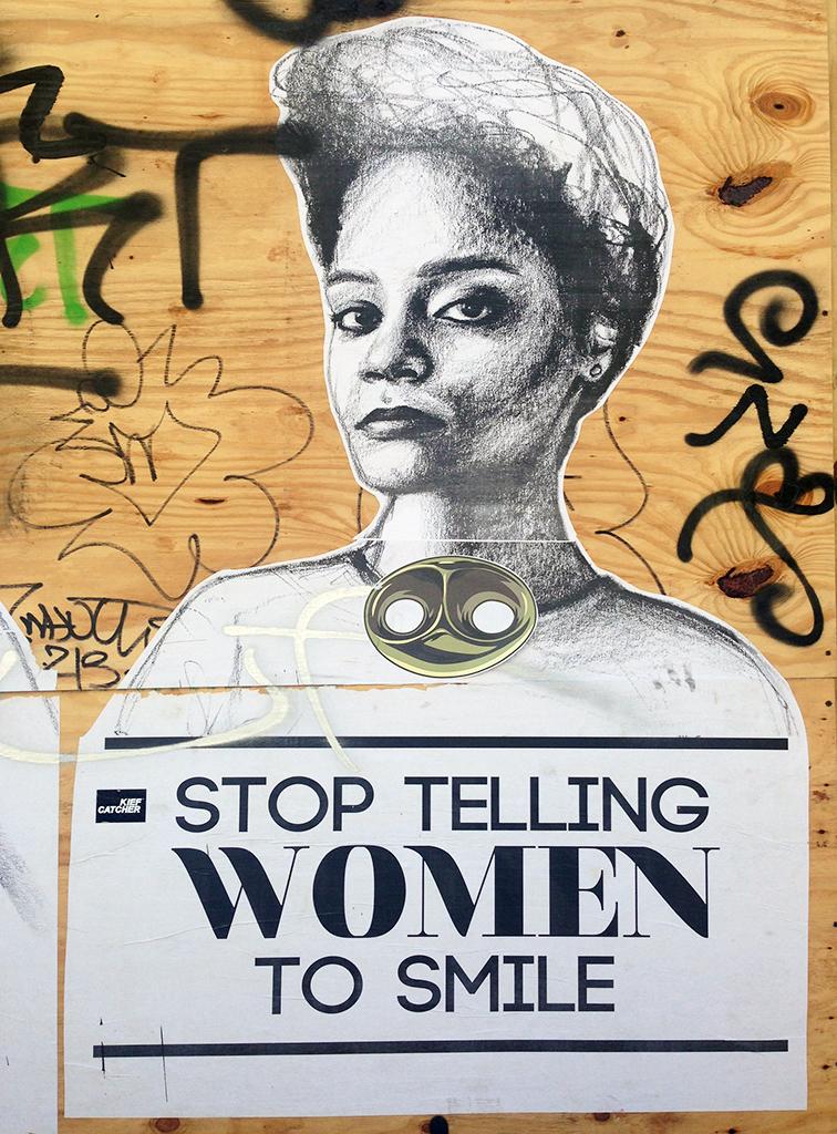Stop Telling Women to Smile by Tatyana Fazlalizadeh in Wynwood, Miami, MBAB, Art Basel 2014, street srt