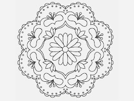 Diwali For Rangoli Designs Coloring Pages
