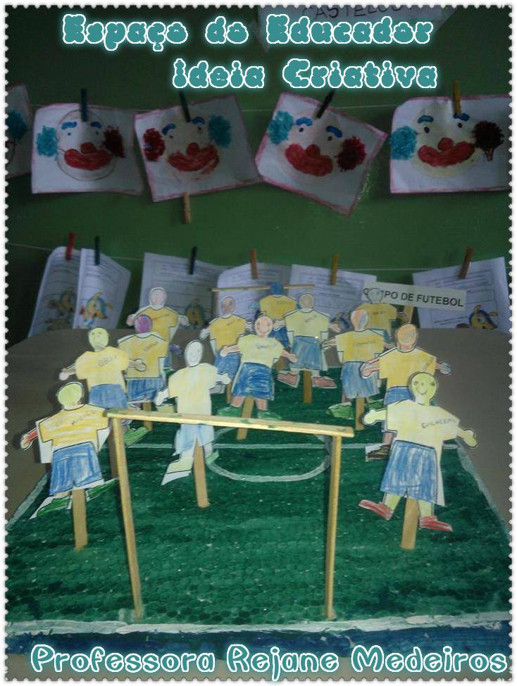 Maquete Campo de Futebol Copa do Mundo Espaço do Educador