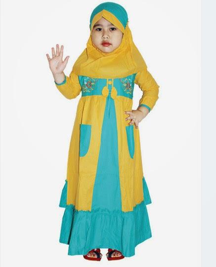 Baju Muslim Anak Perempuan Model Gamis Danitailor