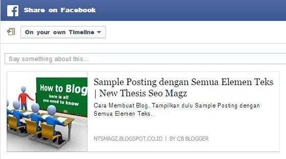Deskripsi Posting Share Facebook NTS Magz Good