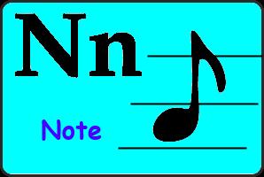 Карточка английской буквы N