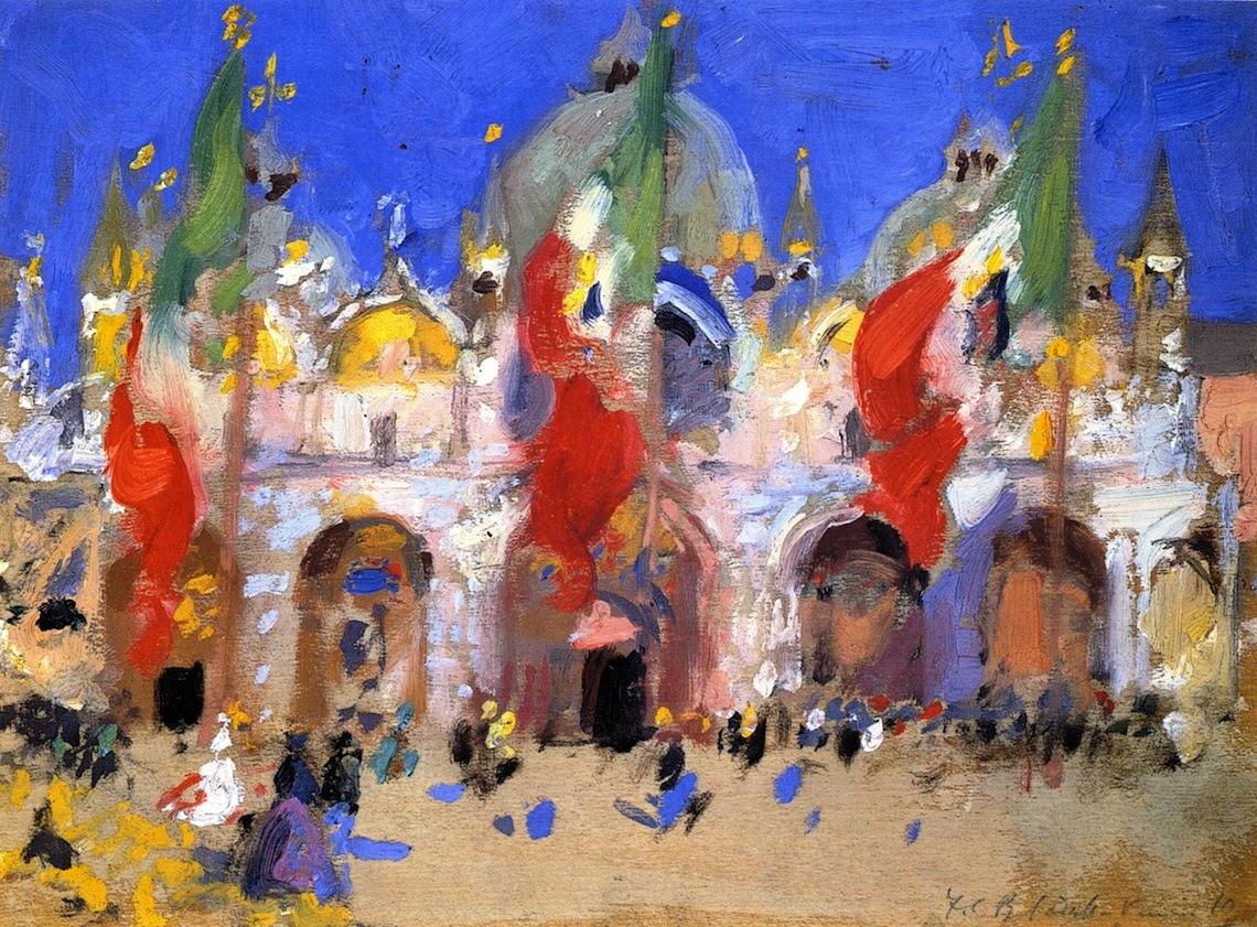 Francis Cadell St Marks Square Venice