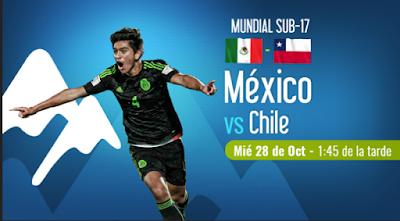 En vivo México vs Chile sub 17 programacion television
