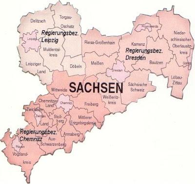 Karte der Provinz Sachsen