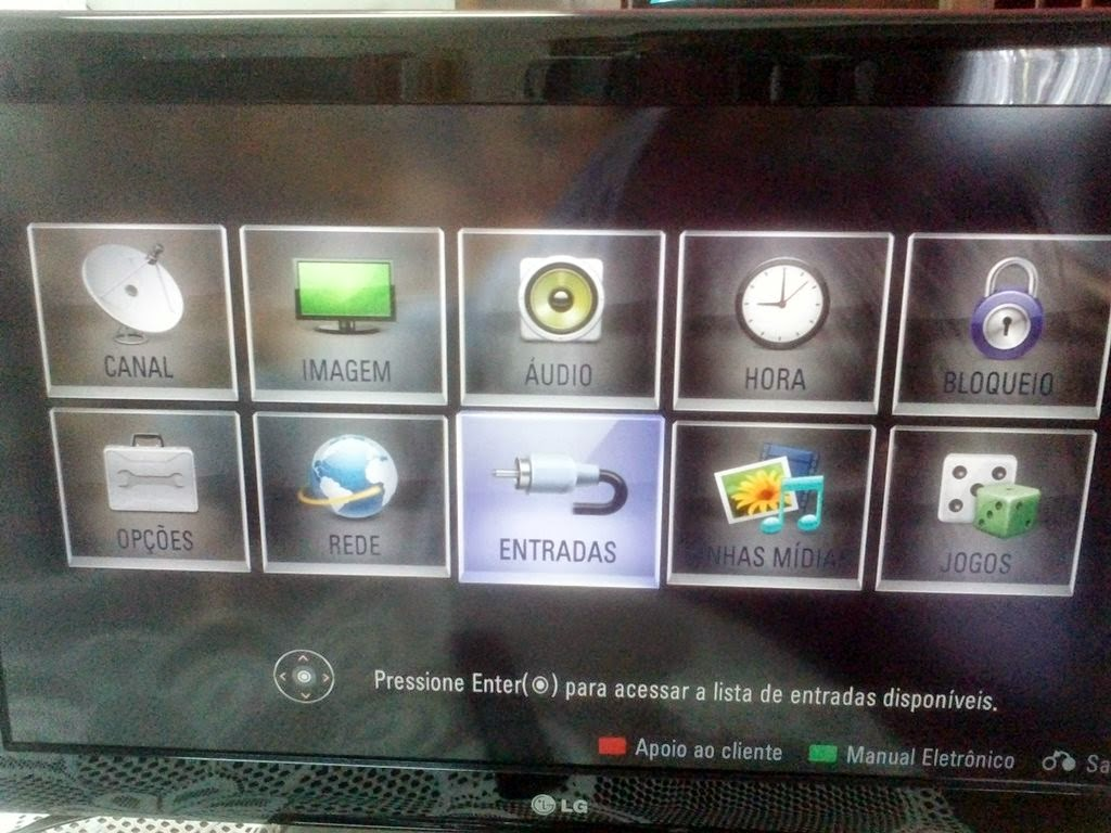 Menu TV LG 32LD650