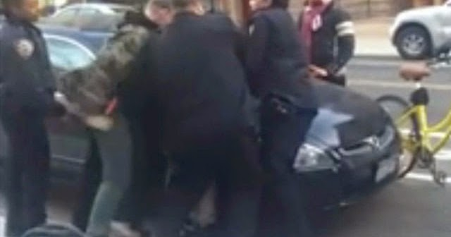Teen caught by cop black suspect taken on a